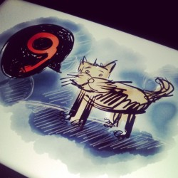 9. #illustration #drawing #cat #instagram #instamood #instadaily #life #fatihyilmaz #ibik