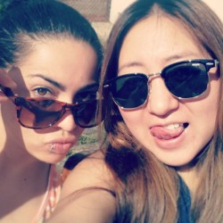 Enjoying sunny day in london. #nice #day #sunny #friends #sun #glasses #flat #1 #bethnallgreen #sun #glasses #tounge #eyes #london #happy #exited #friends.