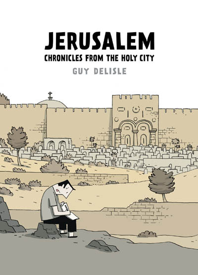 "Jerusalem: Chronicles from the Holy City  , by Guy Delisle   ""Acclaimed graphic memoirist Guy Delisle returns with his strongest work yet—a thoughtful and moving travelogue about life in the Holy City.Guy Delisle expertly lays the groundwork for a cultural road map of contemporary Jerusalem, utilizing the classic stranger in a strange land point of view that made his other books, pyongyang, shenzhen, and burma chronicles required reading for understanding what daily life is like in cities few are able to travel to. In jerusalem: chronicles from the holy city, Delisle explores the complexities of a city that represents so much to so many. He eloquently examines the impact of the conflict on the lives of people on both sides of the wall while drolly recounting the quotidian: checkpoints, traffic jams, and holidays.When observing the Christian, Jewish, and Muslim populations that call Jerusalem home, Delisle's drawn line is both sensitive and fair, assuming nothing and drawing everything. Jerusalem showcases once more Delisle's mastery of the travelogue.""  source: drawn & quarterly"