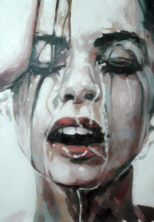 "jewist:  Thomas Saliot; Painting, ""Close up water"""