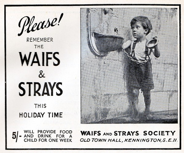 questionableadvice:  ~ Waifs and Strays Society,  Blackwood's Magazine, August 1937
