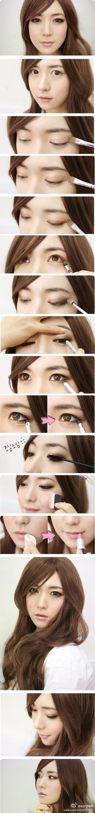 asian natural make up~~~~ reblog from https://pinterest.com/kstargoods/korean-makeup-self-makeup/