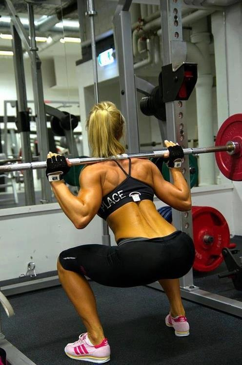 girllookitthatbody-ahh:  Lower back muscles, hello!