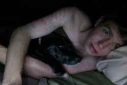 lostinarainyday:  Goodnight again tumblr. This time I get to cuddle my puppy to sleep. I am happy.