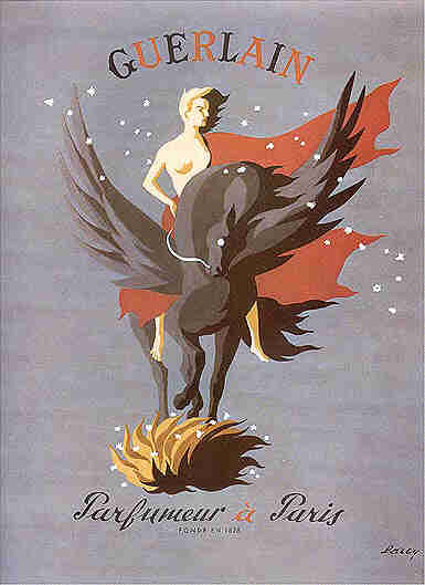 Poster for Guerlain by Darcy, 1949 via bellesdepub