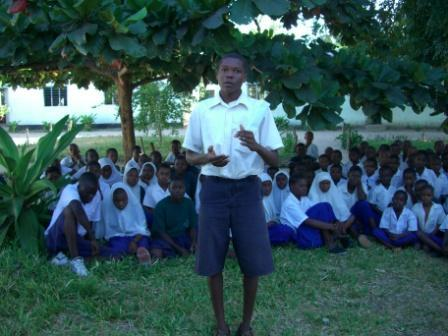 One primary school student explaining how CAMFED has helped him. To learn more about this project visit www.globalgiving.com/2047.