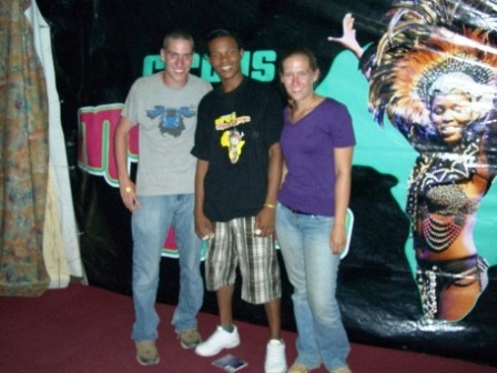 Brian and Alexis outside the Mama Africa Circus with the star of the show. This was an incredible show we saw on one of our few nights in Dar es Salaam. We have to say…we never expected to go to the circus on this trip!