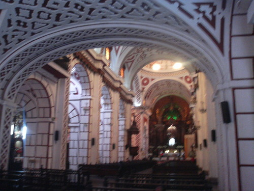 crazy interior (poss lima cathedral? no recollection)