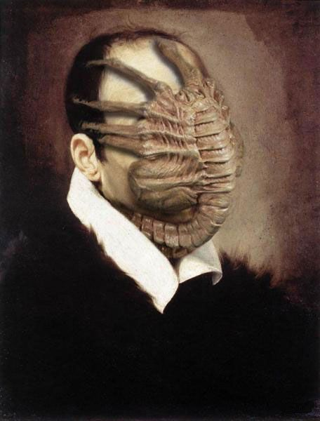 via Famous Monsters From Movies On Classic Paintings Thanks for bringing this to my attention, swampandreviews!