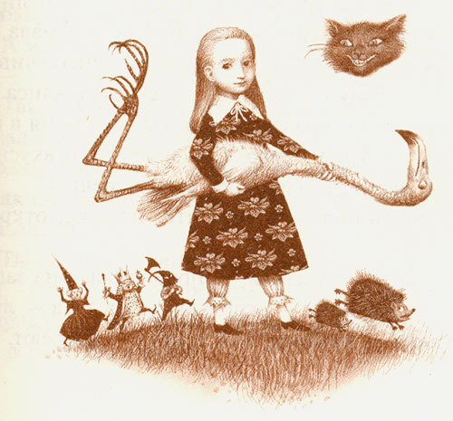 vintage russian alice in wonderland illustration