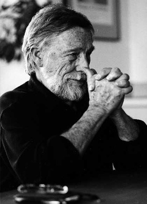 A picture of Gary Snyder in conversation with Thomas Pynchon. (Pynchon has removed himself from the public eye since the 1960s)