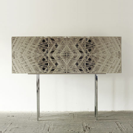 "structures/facades tina roeder and david krings, 2008. ""credenza or sideboard prototype inspired by the architectural history of east-west-berlin, rich in vision and utopias."" via andreas nicolas fischer"