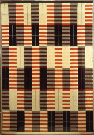 Black-White-Red Anni Albers, student at the Bauhaus University, married to Josef Albers, teaching at the experimental Black Mountain College, one of the most influential textile designers of the 20th century. After being rejected from a glass workshop at the Bauhaus University, she took a weaving class.