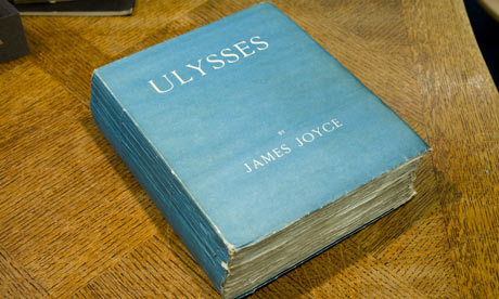 "The Guardian: ""First Edition of Ulysses sells for record £275,000""""The astonishingly well-preserved and previously lost edition of the book, bought surreptitiously in a Manhattan bookshop despite it being banned in the US, was sold to a private buyer in London on the opening day of one of the world's biggest antiquarian book fairs. […] This first edition is unopened – apart from that last episode. The copy is number 45 of the first 100 and is printed on fine Dutch handmade paper. The dealer who made the sale, Pom Harrington, said the book was one of only four copies of that first edition print run, all signed by Joyce, which had been unaccounted for. ""In terms of collectability, Ulysses is considered to be the number one 20th-century book. This is such a find and it is in such fabulous, pristine condition."""
