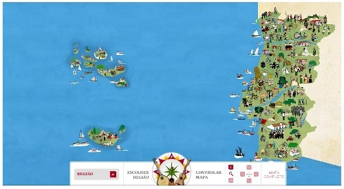 opaco: Mapa etno-musical de Portugal · Instituto Camões, via @mirinho