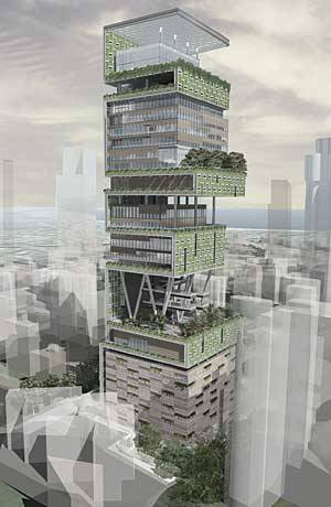 Perkins + Will's Antilla Tower in Mumbai