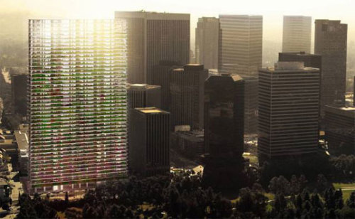 "Jean Nouvel's ""Green Blade"" to Slice L.A. Skyline To have 45 storeys, and be completed in 2012  via Inhabitat"