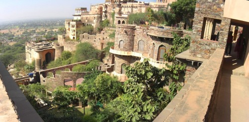 gardens in the Neemrana Fort Palace, Rajasthan, India from soouravdas