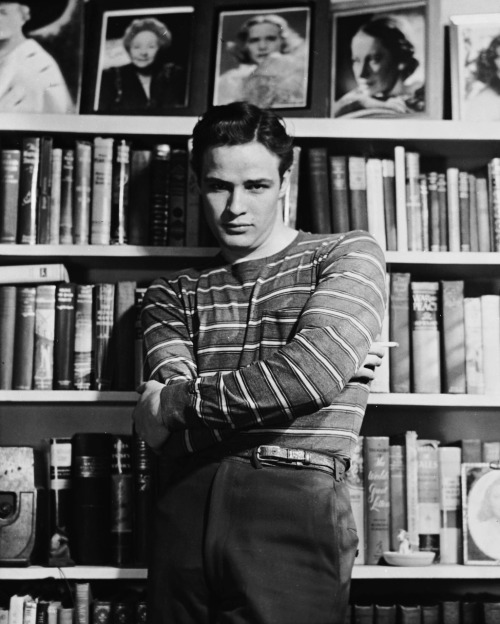 "(Marlon Brando, 1951) ""There was never anyone else remotely like Marlon Brando. Thank God."" -Elaine Stritch"