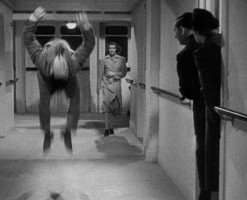 This is Cary Grant back flipping down a hallway in Holiday (not an underpaid stunt double in a suit- Grant spent his teenage years as a member of Bob Pender's troupe of boy acrobats where he learned, among other things, acrobatics, mime, and stilt-walking). If that's not enough to motivate you to see the most underrated of all the Hepburn/Grant comedies, I'm afraid there's nothing else I can do for you.