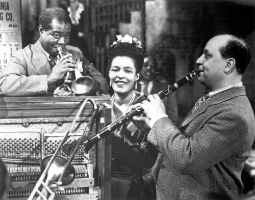 "Louis Armstrong, Billie Holiday, and Barney Bigard in New Orleans (1947, dir. Arthur Lubin)  New Orleans featured Holiday's only major film role. Holiday had several musical numbers in the film, however, she was unhappy that her role was that of a maid. In her autobiography, she wrote:  ""I thought I was going to play myself in it. I thought I was going to be Billie Holiday doing a couple of songs in a nightclub setting and that would be that. I should have known better. When I saw the script, I did. You just tell one Negro girl who's made movies who didn't play a maid or a whore. I don't know any. I found out I was going to do a little singing, but I was still playing the part of a maid."" Some of Holiday's scenes & performances from the film can be seen here."