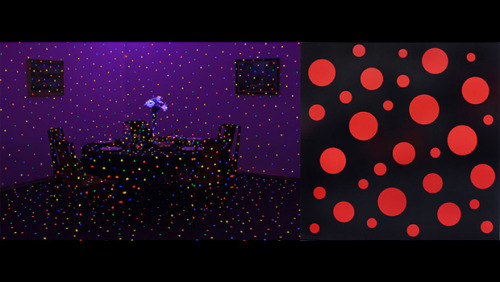 "Comme des Garcons ""Six"" and Yayoi Kusama - ""Room to Grow"" Exhibition, look very interesting. Source : Hypebeast."