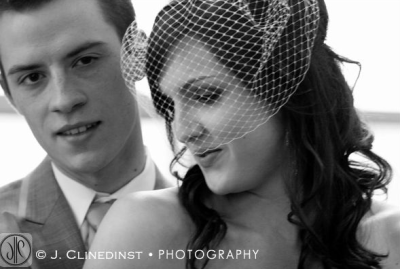 I love black-and-white wedding photos.