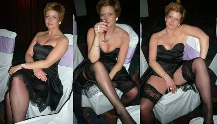 gillianb:  It's that black dress syndrome again (see below).   And in the next shot, I bet her hand was not so strategically placed.
