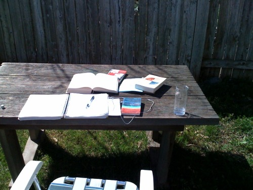Springtime! Studying outside is infinitely more pleasant than studying inside.