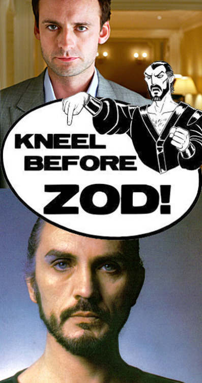 KNEEL BEFORE ZOD!  CW's Smallville is gleaning from the Superman movies, and has cast Callum Blue (The Tudors, Dead Like Me) as the infamous villain General Zod! Originally played by Terrence Stamp… mister Blue has some mighty big shoes to fill! Okay, so it is film 'related' … sorta. Maybe I need to change my blog focus to film&tv…