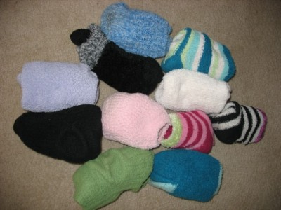 A Lot of Eleven Sorted Bundled Socks (Kindly submitted via Booktumbling)