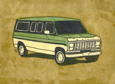 carlovely:  who doesn't want a van on their wall? buy it here