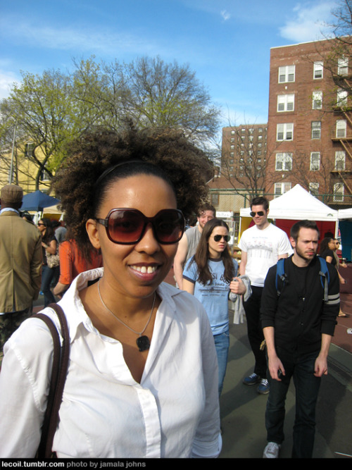 Christina at Brooklyn Flea.