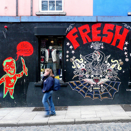 Fresh! Another shot from Temple Bar, Dublin.