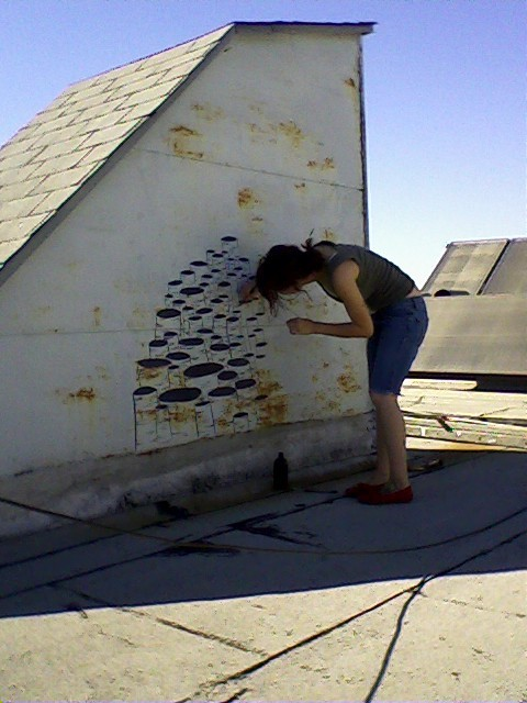 peptalk:  painting on my roof.  I miss painting on roofs…..
