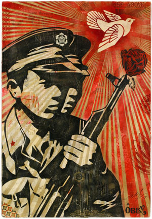 Shepard Fairey piece at YBCA via @whitewalls