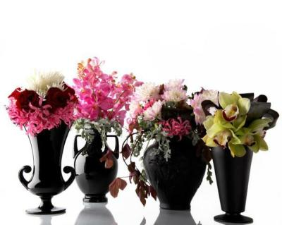 Sleek Florals With Pink White and Black Color Palette Lend Architectural Approach | Style Me Pretty : The Ultimate Wedding Blog