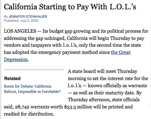 California, a State of Debt | The Awl
