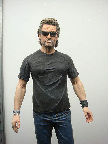 craytonc:  mudwerks:  shelbot: Kurt Russell Action Figure!  Do want! I need to get a shelf at work and bring in some cool stuff…