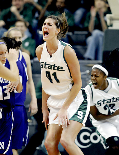 Allyssa DeHaan, the Michigan State Spartans, and emotion. Four more photos after the link. The State News