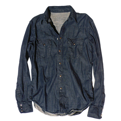 45rpm NYC Denim Easter Shirt (US$294) Have never rocked a denim shirt before, but feel this one by 45rpm would be a good place to start. NYC store exclusive - hope it's still there by the time I can afford to pull the trigger on it.
