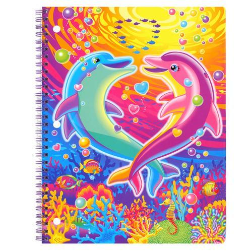 Lisa Frank notebook.