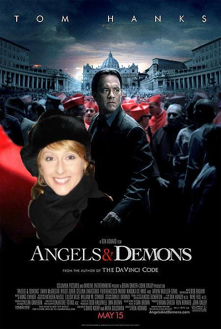 Angels & Demons > DaVinci Code Read DaVinci Code, and didn't like it, so I wasn't about to see the movie (Directed by Ron Howard…and Tom Hanks is supposed to play a hot guy?) So then I didn't read Angels & Demons, but Juan said it was good and wanted to see the movie.  Went, saw it.  Twisty and entertaining! Thanks Juan!