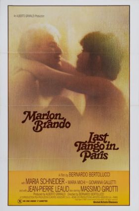 "Just watched Last Tango in Paris, a 1972 film by Bernardo Bertolucci starring Marlin Brando as a recently widowed American expatriot who makes an anonymous lover out of a playful young French girl (Maria Schneider) after his wife's suicide. In constructing an impersonal yet extremely animalistic, profane and even violent sexual relationship with the easily-frightened, childish girl, Brando captures her heart and body while losing himself in the process (if he wasn't lost already). This Italian film was extremely controversial when it was released, achieving an X rating in the US when it came out. It's easy to see why- the film breaches vulgar notions of sexual convention, and Brando's behavior and language are extremely vulgar and offensive in parts (i.e. the famous butter scene, for which Maria Schneider would be forever teased). Brando and Schneider have an incredible tension between them, which they communicate in lilting bilingual French and English, in endearing little accents (which they tease each other about) on the backdrop of an abandoned, old, beat-up apartment, making love on a mattress or up on the radiator. The film achieves an incredible mood, and the story plays out with great New Wave Cinema style cinematography, gorgeous panoramic scenery shots and long, sweeping cuts intact. Last Tango may not be everyone's cup of tea- certainly not romance light for the Hugh Grant crowd. But for fans of Brando and good film in general, and movie-viewers who don't mind getting a little freaky, it's definitely worth two hours of your time.   Share |      var addthis_config = {""data_track_clickback"":true};"