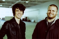 Dan (Left) and Shane (Right) on the set of Let Down. Out of the hundreds of photos I've seen from the set so far, I think this one wins the best smiles.