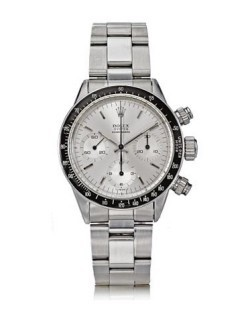Eric Clapton's 1971 Albino Rolex Daytona recently sold for $505,000.  Again, as with the Patek below, that is no doubt a lot of money.  However, if you are a certain type of individual, half a million to own a one of a kind Daytona worn by Slow Hand himself seems like a bargain.  Click the pic for the link.