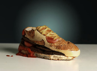 davidcho:  caitlinoppermann:  morganpearse:  ffffound: nike (burguer) air max 90 by olle hemmendorff   Oh ok, I support this.