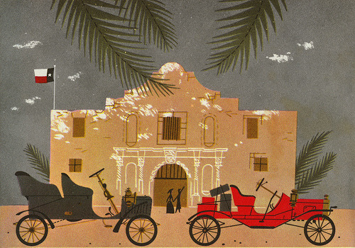 Charley Harper - The Alamo (via Glen Mullaly)