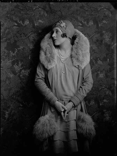 arsenicetvieillesdentelles:  soul-wearing-lovers-arms:  roaringtwenties:  parallelbotany:definatalie:   A young Barbara Cartland!  what an outfit   (via fancybidet)
