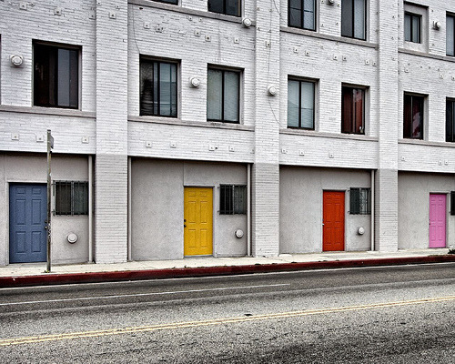 Colorful doors (via cindy crane)